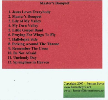 Furman Boyce and Harmony Express - Masters Bouquet CD