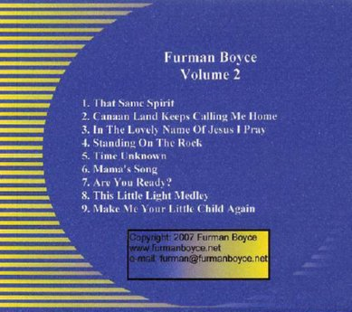 Furman Boyce and Harmony Express - Volume 2 CD